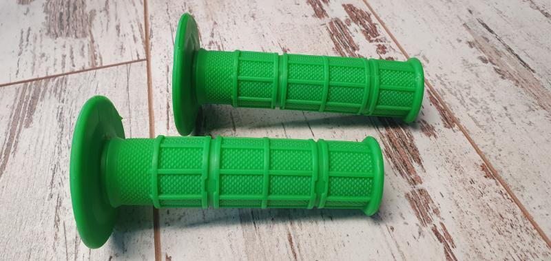 Handtag Enduro mörkgröna 22/24mm 1 par Universal
