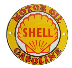 Emaljskylt Shell 10cm