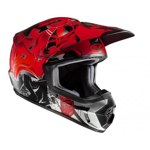 Crosshjälm HJC MX II Graffed MC1SF Svart/Röd
