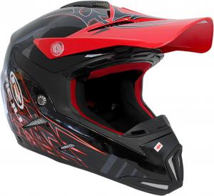 Crosshjälm Shiro MX-305 Svart/röd Reiju