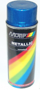 Sprayfärg Blå metallic 400ml Motip
