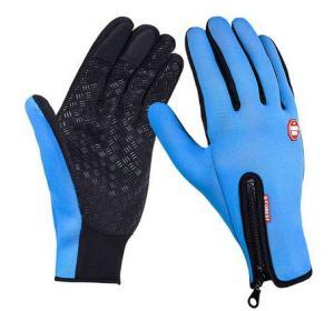 Vattentåliga Touch-handskar Blåa 1 par