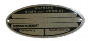 Ägarens namn och hemvist Emblem