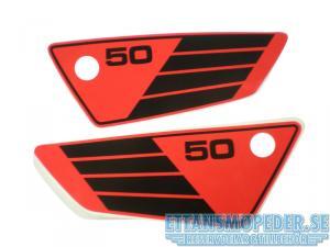 Kåpdekalsats Yamaha FS1 röd/svart 80-81
