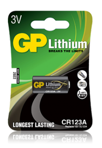 Batteri GP 3V CR123A 1 pack