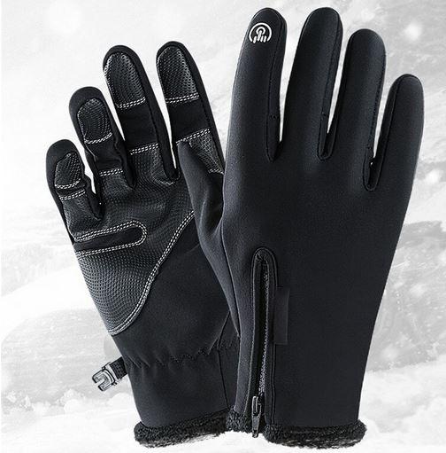 Vattentåliga Touch-handskar svarta 1 par fodrade