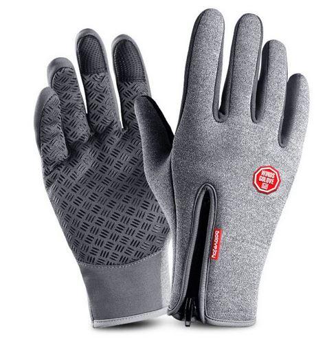 Vattentåliga Touch-handskar grå 1 par