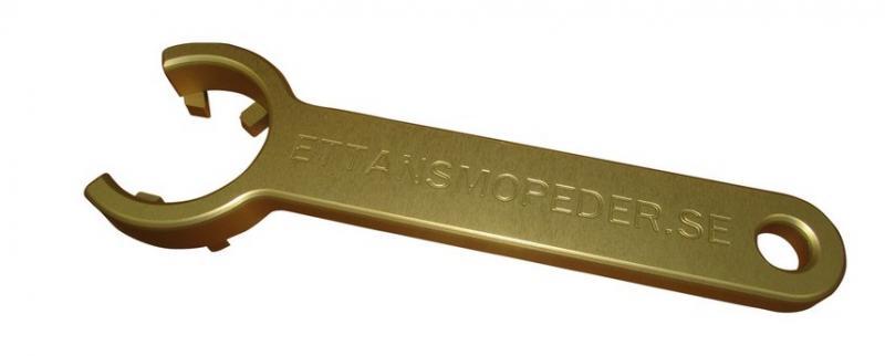 Haknyckel 28mm avgasmutter Sachs guld