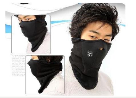 Ansiktsmask Fleece svart