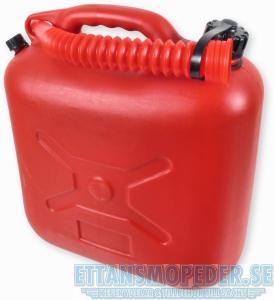 Bensindunk 10 liter röd