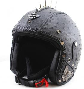 Jethjälm Harley läder svart Vintage Punk 07fcf3b9b3eeb
