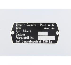 Typskylt Puch Maxi