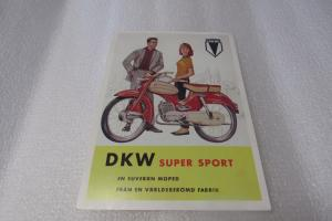 Vykort DKW Super Sport