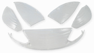Blinkers & baklampsglas vita Peugeot Vivacity