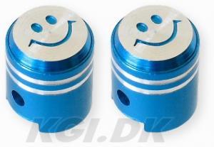 Ventilhatt kolv smiley Blå 1 par Universal