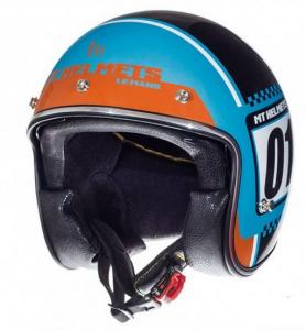 Jethjälm Le Mans numberplate blå