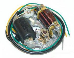 Tändplatta 5/15W 3W 4 utg kabel Sachs mfl