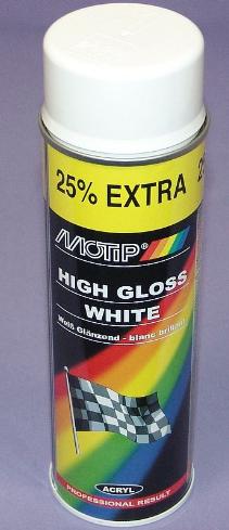 sprayfärg vit blank