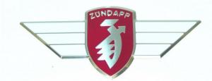 Emblem Zundapp röd/vit