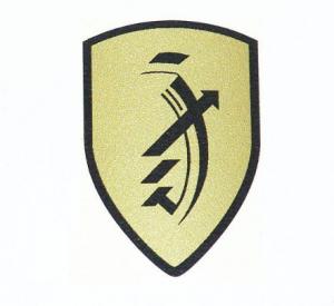 Dekal Zundapp logo guld 30x45mm