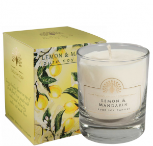 Pure Soya Candle 170 g Lemon & Mandarine
