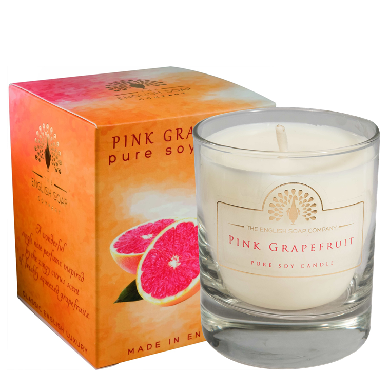 Pure Soya Candle 170 g Pink Grapefruit