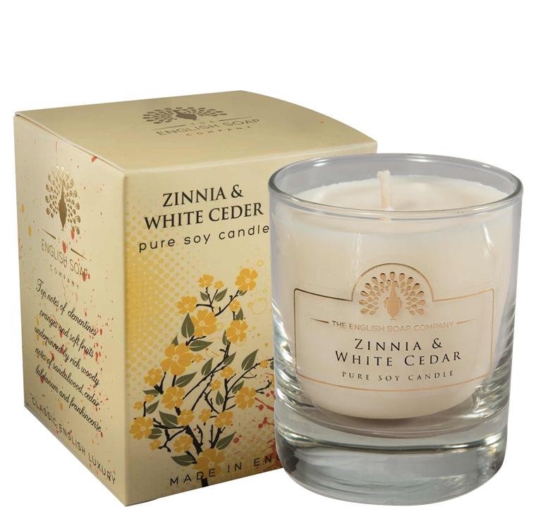 Pure Soya Candle 170 g Zinnia & White Cedar