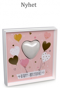 Mini heart Soap in a Card Happy Birthday Pink Grapefruit