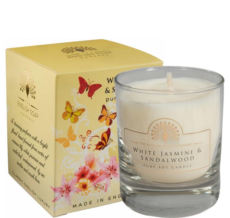 Pure Soya Candle 170 g White Jasmine & Sandalwood