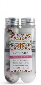 Bath Salt & Soak Pink Pepper ( 50g salt, 40 ml soak)