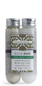 Bath Salt & Soak Fresh sweet Grass ( 50g salt, 40 ml soak)
