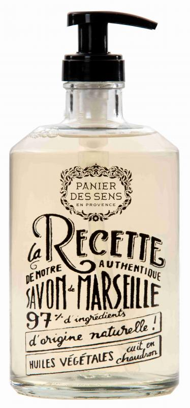 Glass Bottle Marseille Soap Soothing Provence 500ml