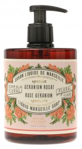 Marseille Soap Rose Geranium 500ml