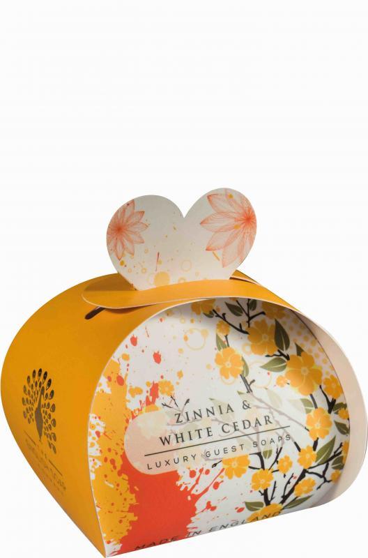 Luxury Small Soaps 60 g Zinnia & White Cedar