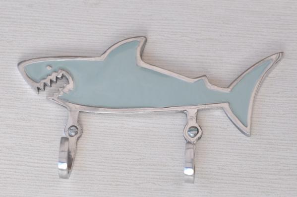 Dubbelkrok Haj gråblå
