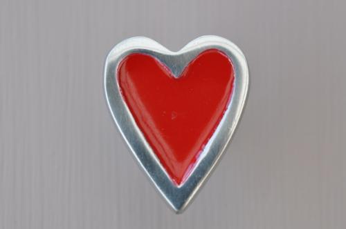 Knopp Hjärta röd