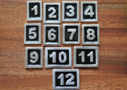 Siffror till brevlådan - svart