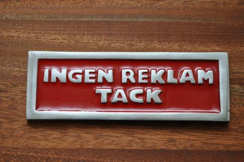 INGEN REKLAM TACK - röd