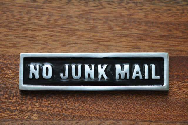 NO JUNK MAIL - black