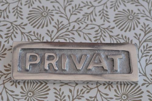 Skylt  PRIVAT