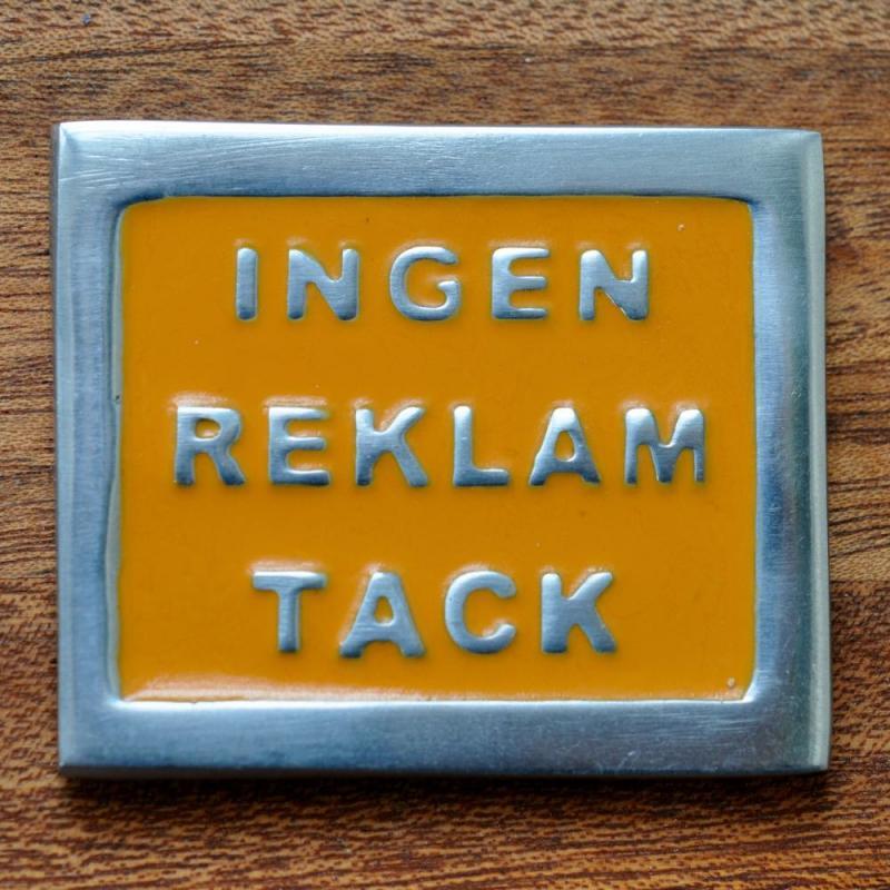 INGEN REKLAM TACK - orange