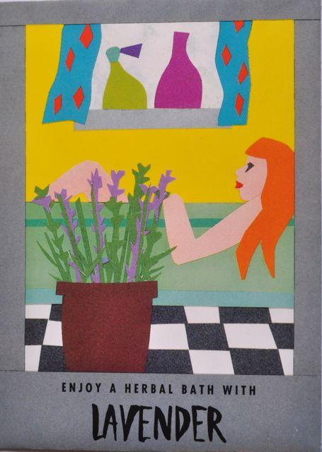 Seed Packet Postcard - Lavender