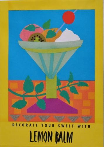 Seed Packet Postcard - Lemon Balm
