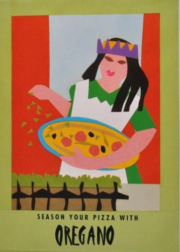 Seed Packet Postcard - Oregano