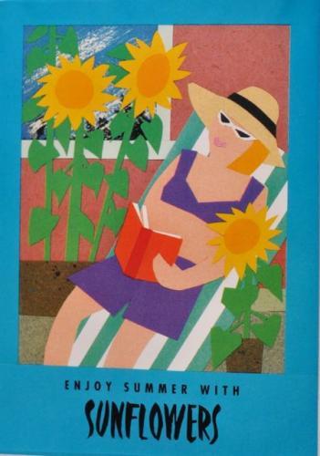 Seed Packet Postcard - Sunflowers