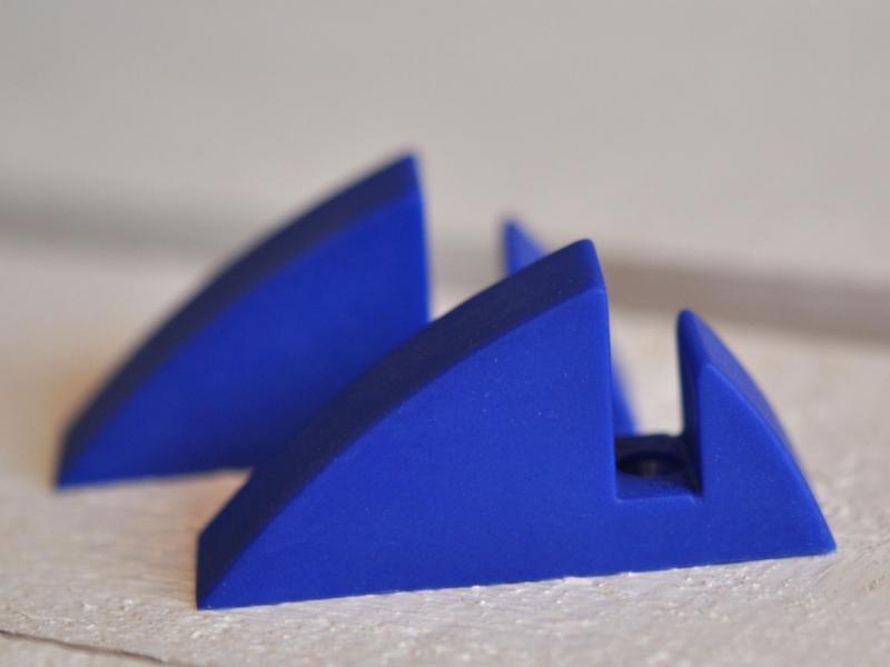 Hyllkonsol blå 8 mm