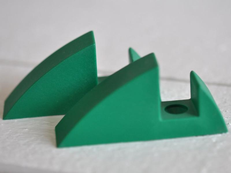 Hyllkonsol grön 16 mm