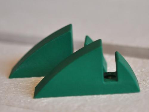 Hyllkonsol grön 8 mm