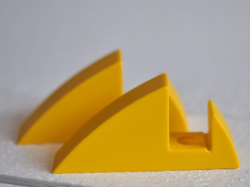 Hyllkonsol gul 19 mm