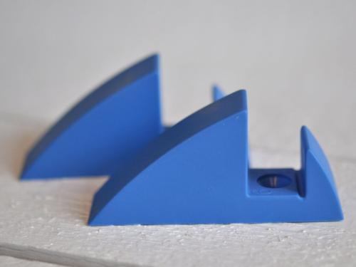 Hyllkonsol pastellblå 19 mm